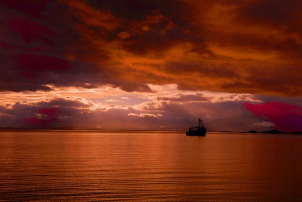 Alaska Boat Sunset